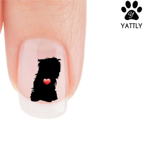 My Heart Yorkie (Sitting) Nail Art Decals (Now 50% more FREE)