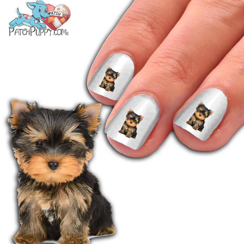 Yorkie Puppy - Way too Cute - Nail Art (NOW 50% MORE FREE) – Patch Puppy