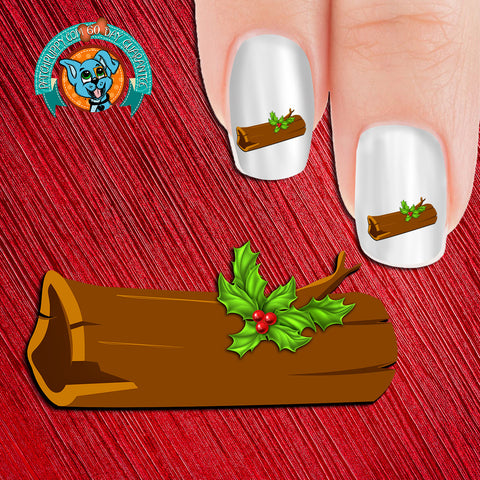 Yule Log Nail Art Decals (Now 50% more free)