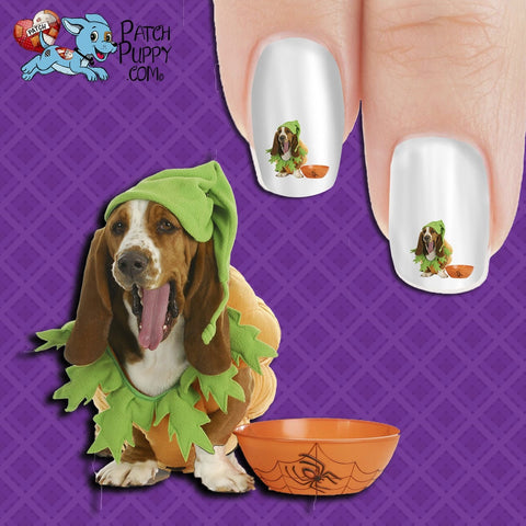 Basset Cute Costume Nail Art Decals (Now! 50% more FREE)