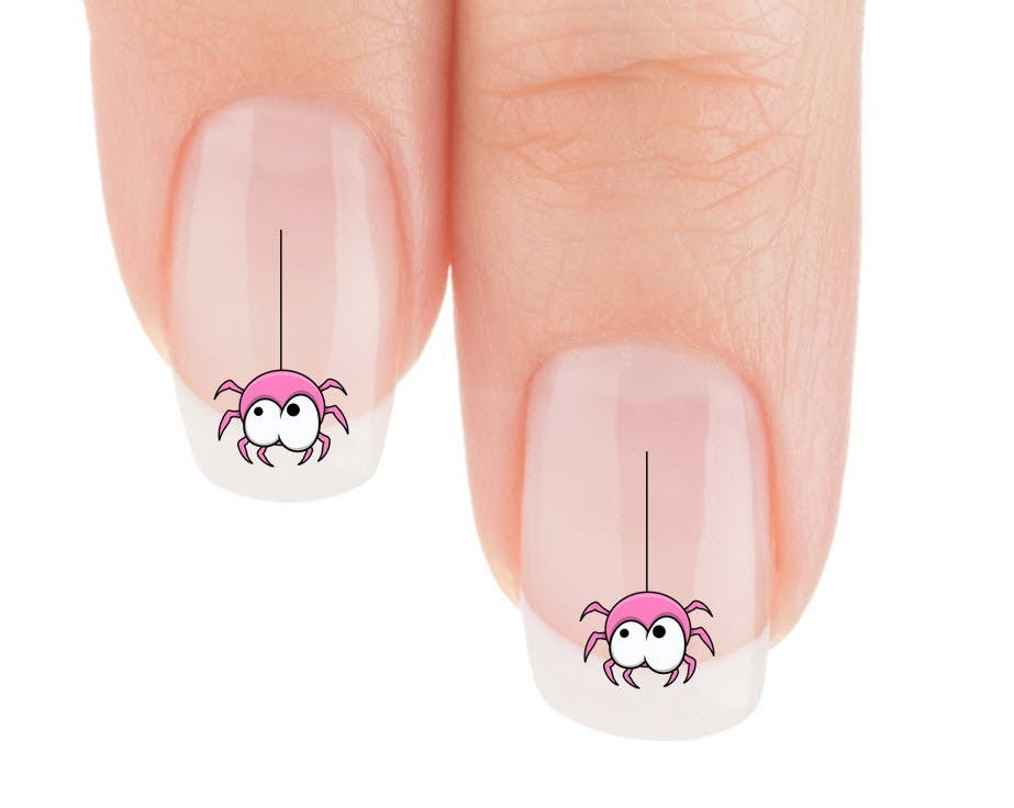 Cute Pink Spider Nail Art Decals (Now! 50% more FREE) – Patch Puppy