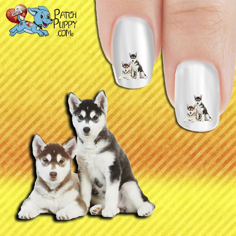 Huskies - Double Trouble Nail Art Decals (Now! 50% more FREE)