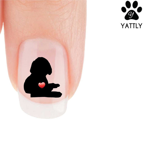 My Heart Labrador Puppy Nail Art Decals (Now 50% More FREE)