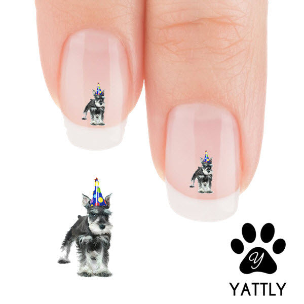 Schnauzer Its My Party I Can Bark If I Want to Nail Art Decals (NOW 50% MORE FREE)