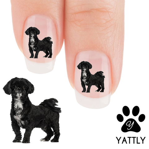 Shih Tzu - Alert- Nail Art Decals (Now! 50% more FREE)