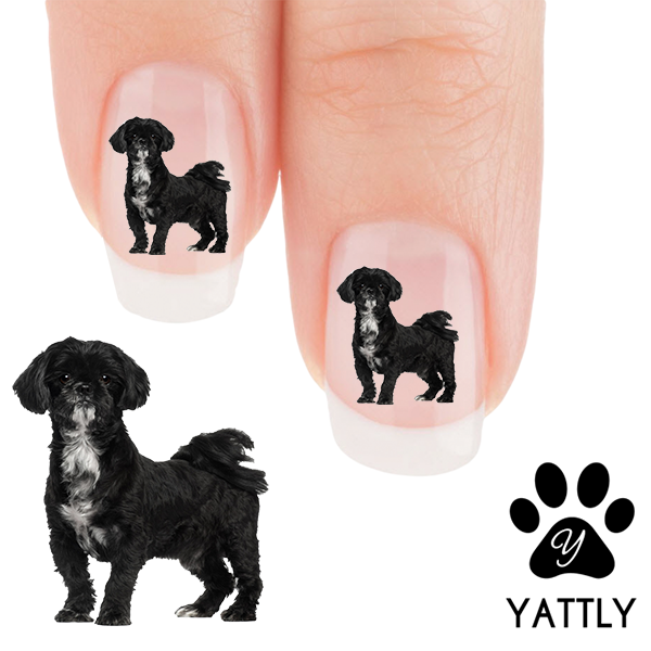 Shih Tzu Alert Nail Art Decals Now 50 More Free Patch Puppy