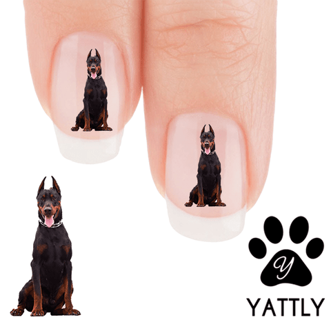 Doberman Stand tall and proud Nail Art (NOW 50% MORE FREE)
