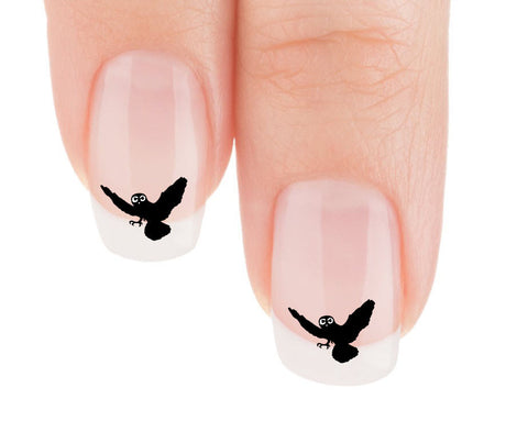 Owl Silhouette Nail Art Decals (Now! 50% more FREE)