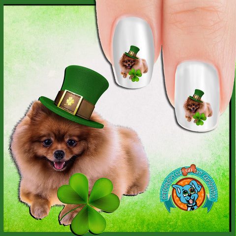 Pomeranian St Patricks Day Nail Art Decals (Now 50% more!)
