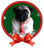 It's a Pug with a Christmas tie Nail Art ( NOW 50% MORE FREE)