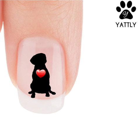 My Heart Puggle Nail Art Decals (NOW 50% MORE FREE)