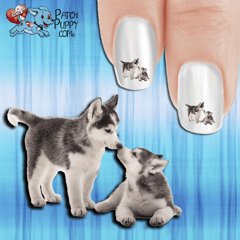 Huskies - And they call it Puppy Love Nail Art Decals (Now! 50% more FREE)