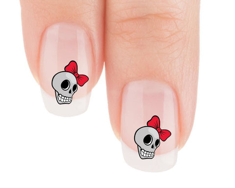 Girly Skull Nail Art Decals (Now! 50% more FREE)