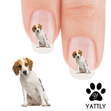 Beagle Lean Into It Nail Art Decals (NOW MORE 50% MORE FREE)