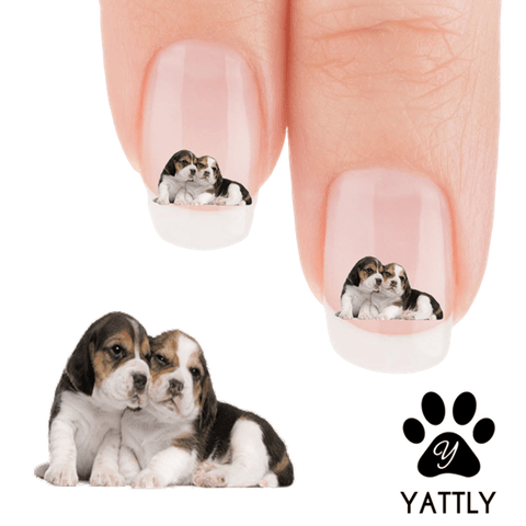 Beagle Puppy Love Nail Art Decals (NOW 50% MORE FREE)