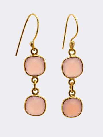 Rose Chalcedony Earrings