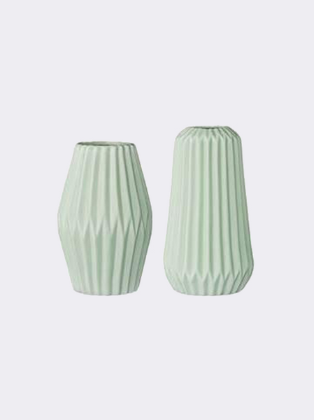 Set of Fluted Vases