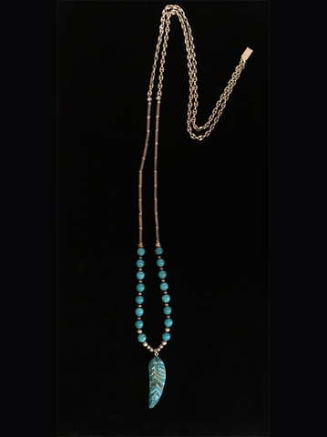 Zuni Feather Blues Necklace