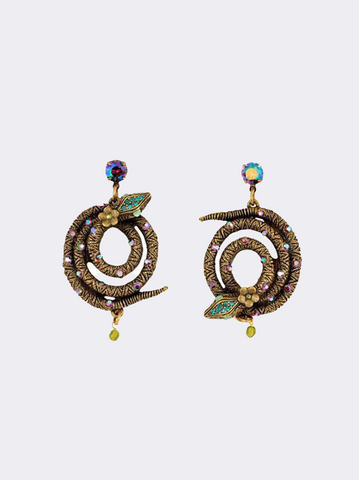 Coiled Serpent Earrings