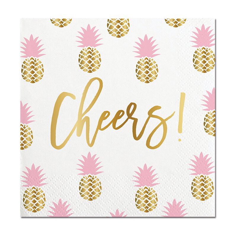 "Slant Collections 5"" Cheers Napkin"