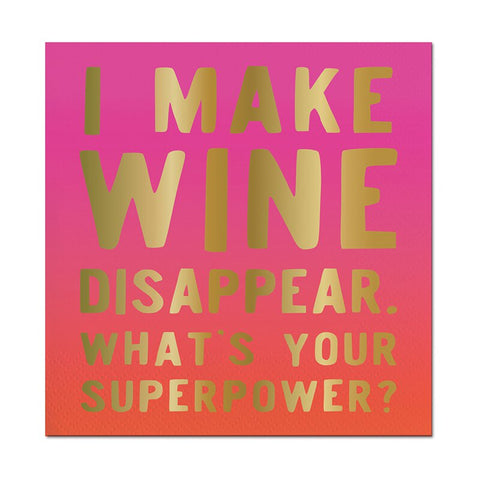 "Slant Collections 5"" Wine Disappear Napkin"