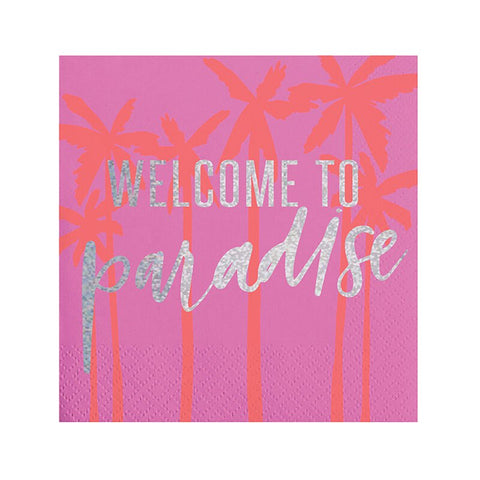 Slant Collections Welcome Paradise Napkin