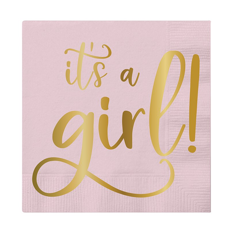 Slant Collections It's a Girl Napkin