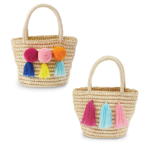 Mud Pie Straw Tote