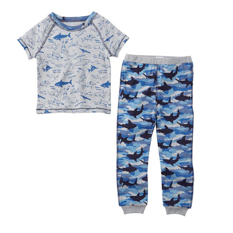 Mud Pie Shark Print Pajamas