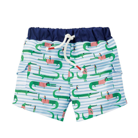 Mud Pie Pirate Alligator Swim Trunks