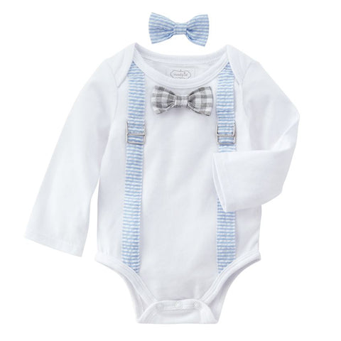 Mud Pie Onesie Bow Tie Set