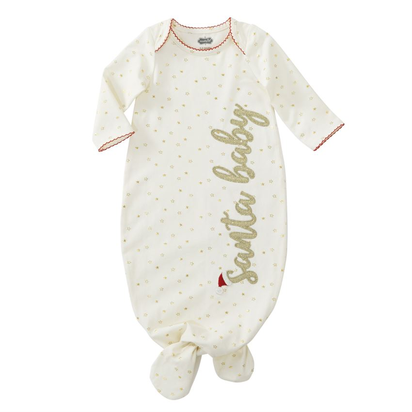 Mud Pie Santa Baby Sleep Gown