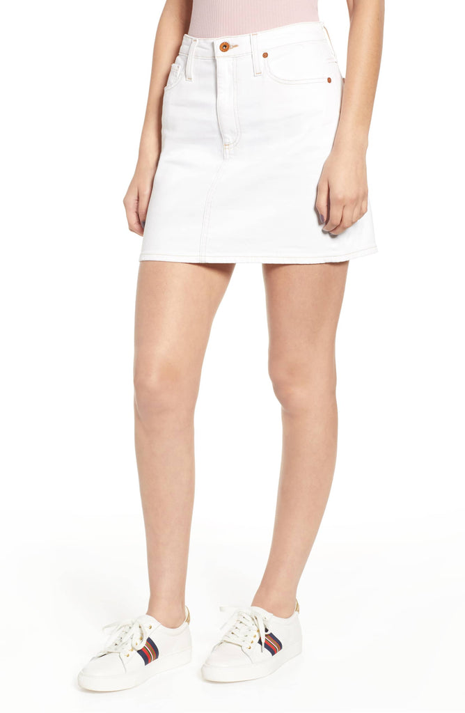 AG The Vera Skirt 1 Year Bare White