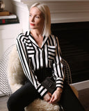 Joseph Ribkoff Striped Blouse
