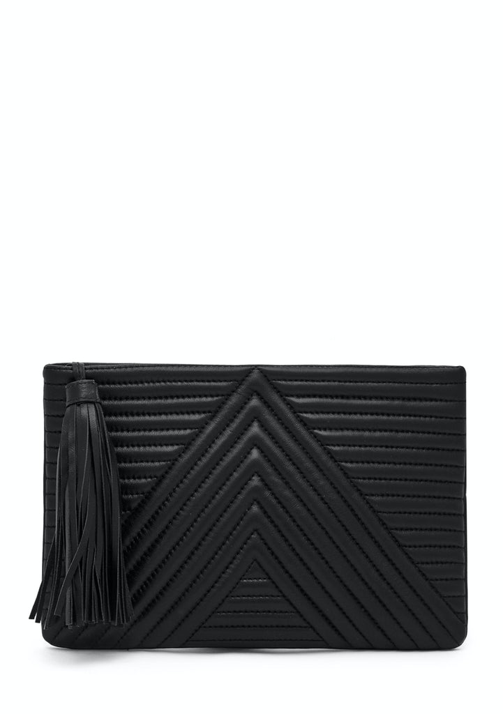 Mighty Purse Geo Clutch - Black