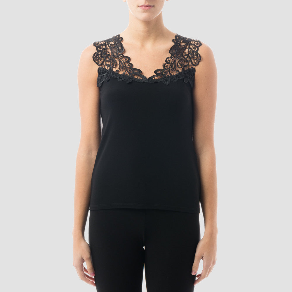 Joseph Ribkoff Lace Sleeveless Top - ShopBody.com - 1