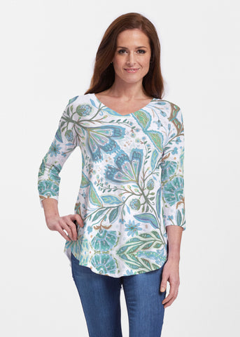 Whimsy Rose V-Neck Flowy Tunic