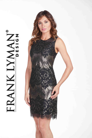 Frank Lyman Black & Gold Lace Dress
