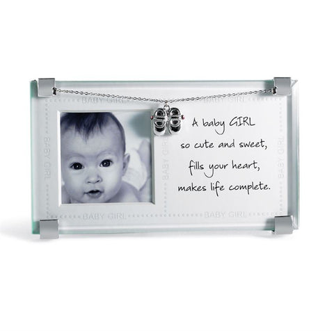 Mud Pie New Baby Girl Clip Frame
