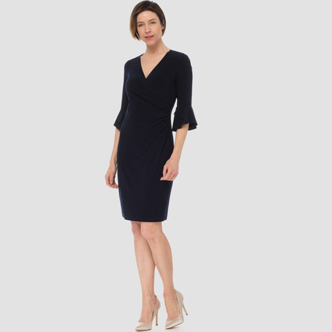 Joseph Ribkoff 3/4 Sleeve Surplice Dress
