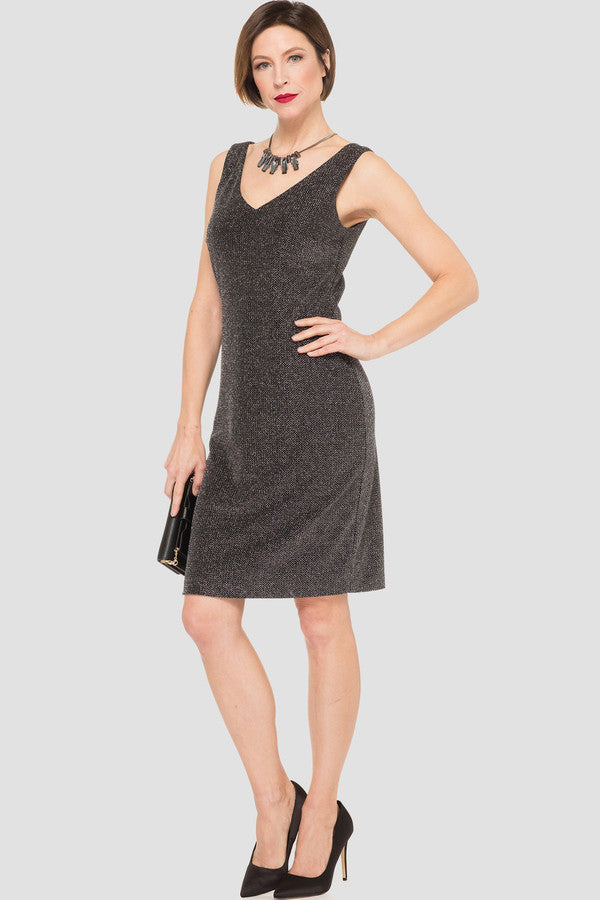 Joseph Ribkoff Double-V Sparkle Dress