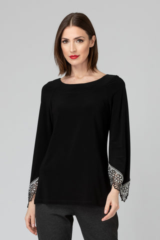 Joseph Ribkoff Embroidered Bell Sleeve Top