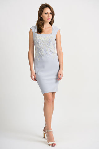 Joseph Ribkoff Pearl Square Neck Dress