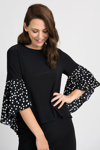Joseph Ribkoff Polka Dot Sleeve Top