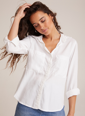 Bella Dahl Fray Placket Shirt