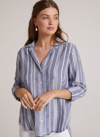 Bella Dahl Frayed Classic Button Down