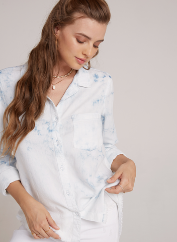 Bella Dahl Roll Sleeve Pocket Shirt