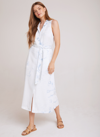 Bella Dahl S/L Midi Dress - Cloud Wash