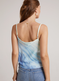 Bella Dahl Bias Cowl Tie Cami - Sea Spray