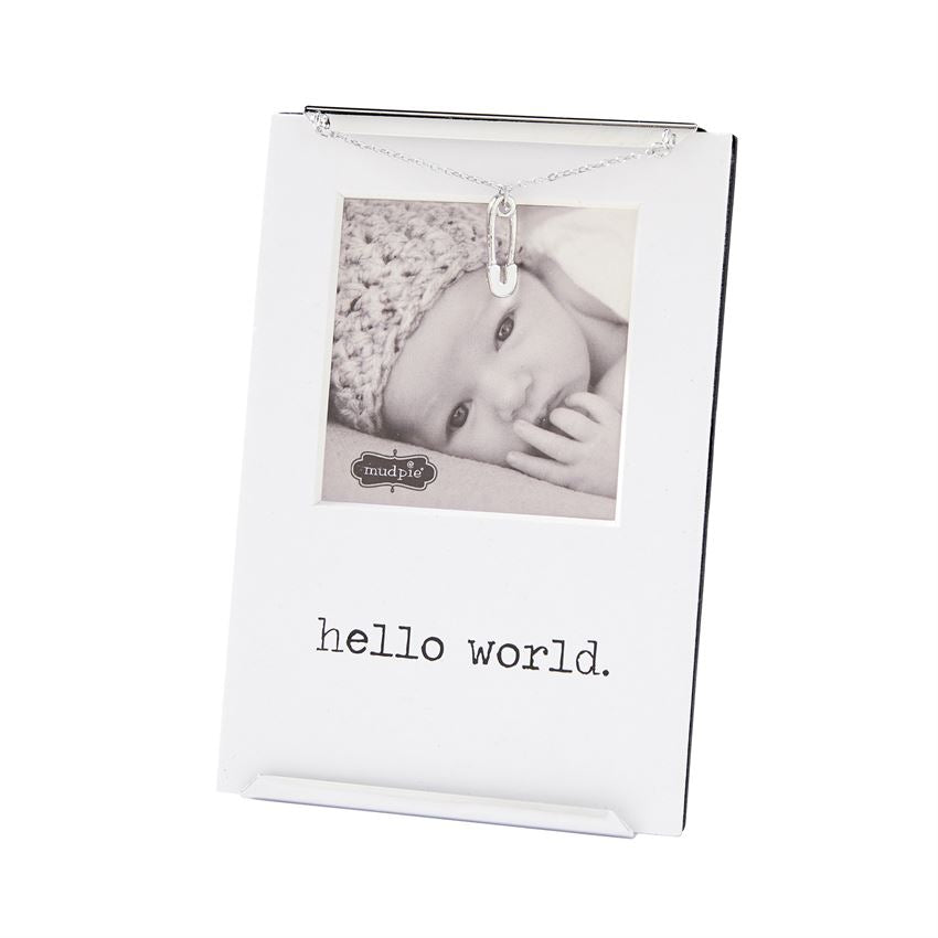 Mud Pie Hello World Clip Frame